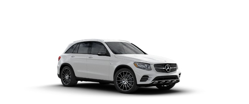 2018 Mercedes-AMG GLC 43 in designo Diamond White Metallic