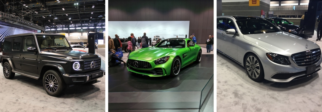 mercedes-benz g-class, AMG GT R and the E 400 at the Chicago Auto Show