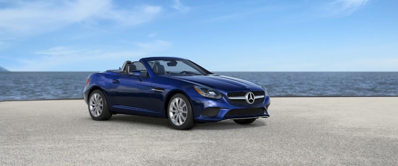 2018 Mercedes-Benz SLC in Brilliant Blue Metallic