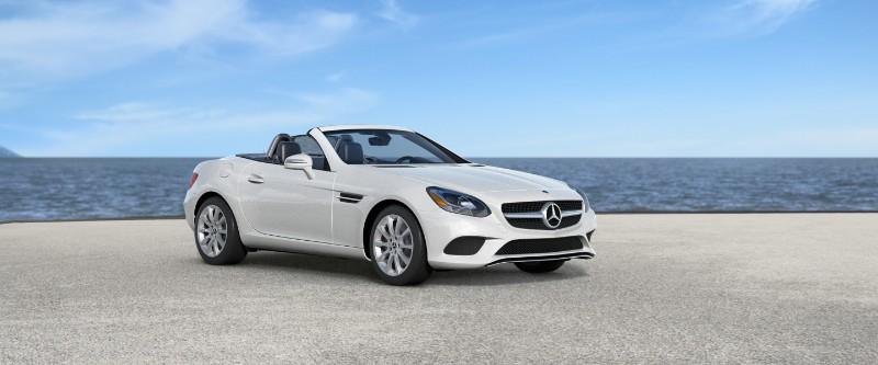 2018 Mercedes-Benz SLC in desgino Diamond White Metallic