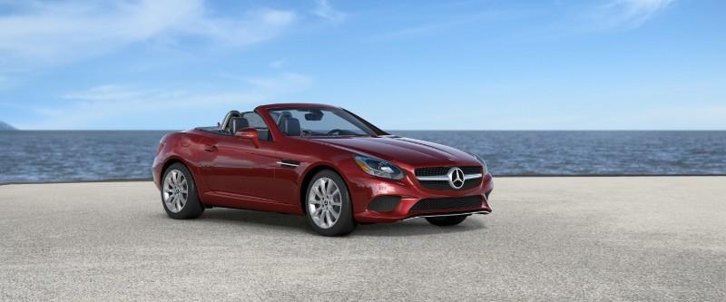 2018 Mercedes-Benz SLC in designo Cardinal Red Metallic