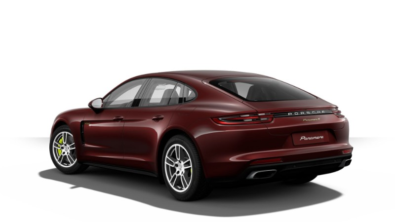 2018 Porsche Panamera E-Hybrid in Burgundy Red Metallic