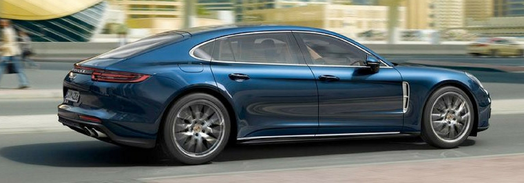 profile view of the 2018 Porsche panamera