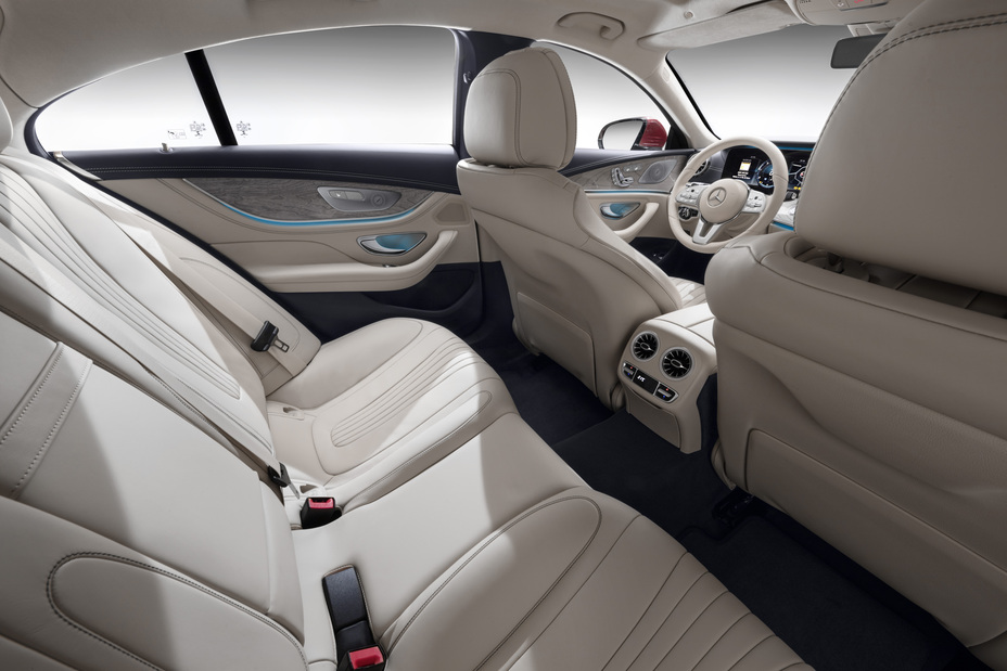 second row seats inside the 2019 Mercedes-Benz CLS