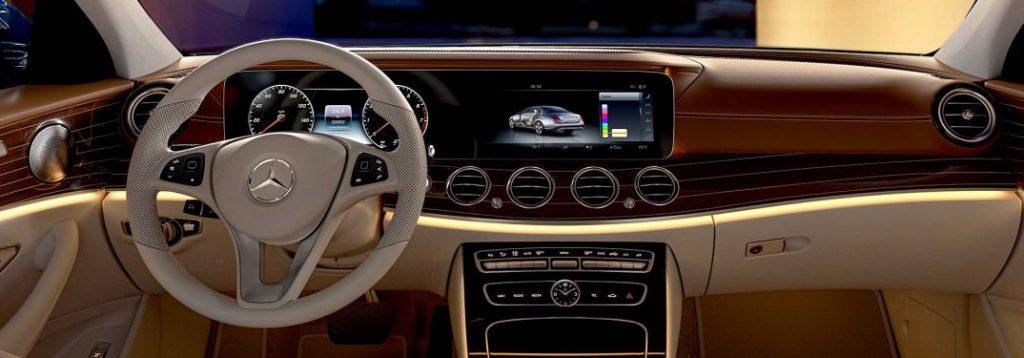 2018 mercedes benz e class infotainment screen size for Mercedes benz service appointment
