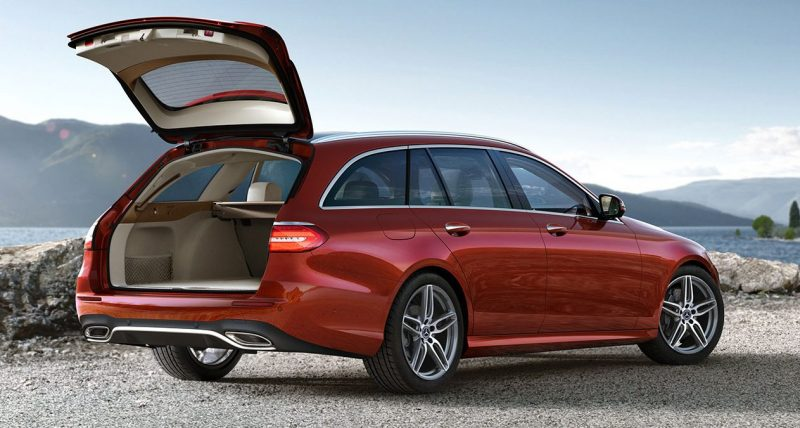 2018 Mercedes-Benz E-Class Wagon with its trunk open