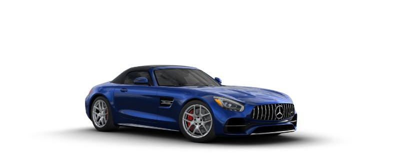 2018 Mercedes-AMG GT C Roadster in Brilliant Blue Metallic