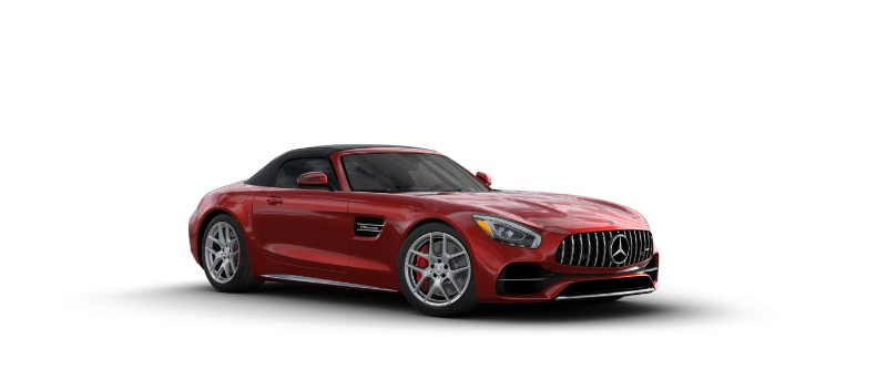 2018 Mercedes-AMG GT C Roadster in designo Cardinal Red Metallic