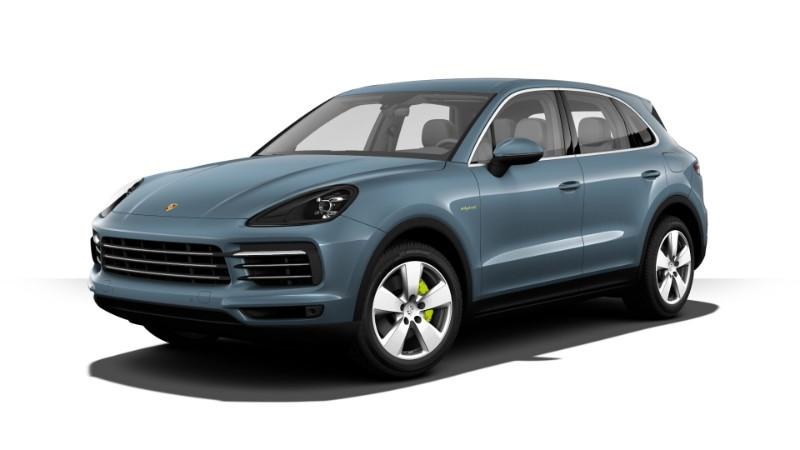 2018 Porsche Cayenne E-Hybrid Biscay Blue Metallic