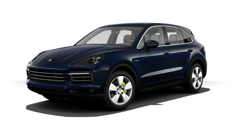 2018 Porsche Cayenne E-Hybrid Moonlight Blue Metallic