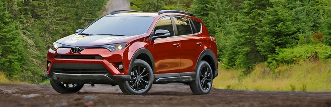 2018 Toyota RAV4 parked in the woods.