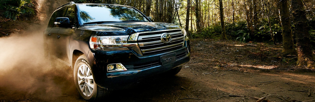 2019 Toyota Land Cruiser driving on the road