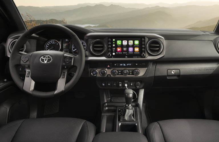 2020-Toyota-Tacoma-interior-dash-and-whe
