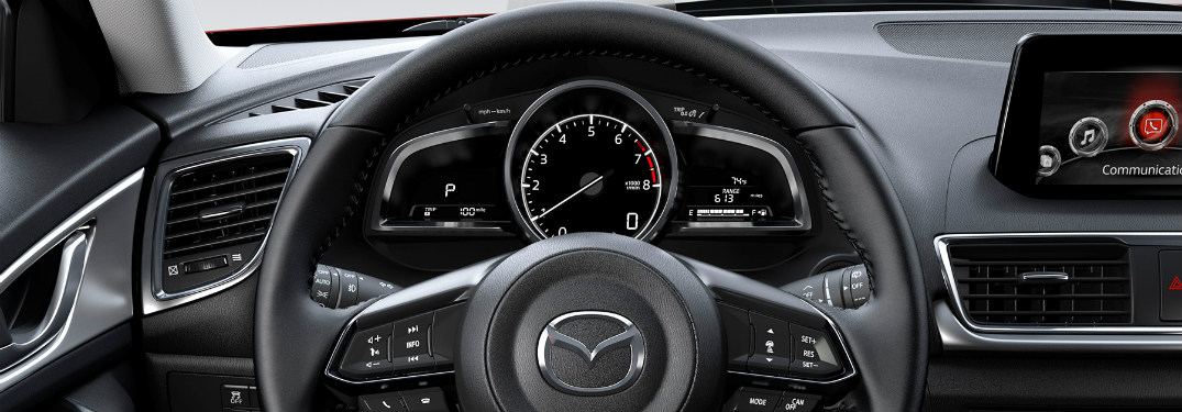 2018 Mazda3 dashboard and steering wheel