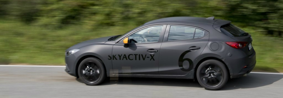 Mazda SKYACTIV-X TECHNOLOGY in a test car