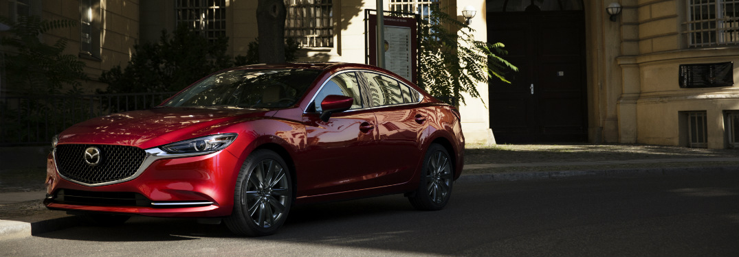 2018 Mazda6 red on the street side view