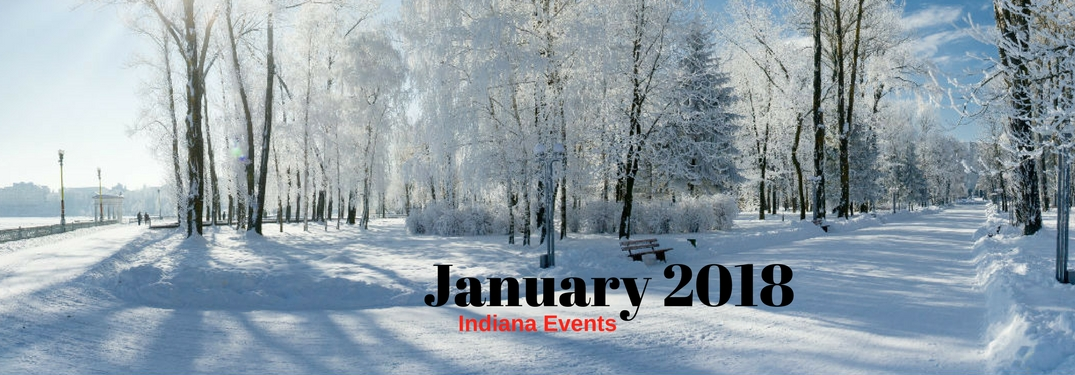 January 2018 Indiana Events, test on an image of an ice covered road and trees