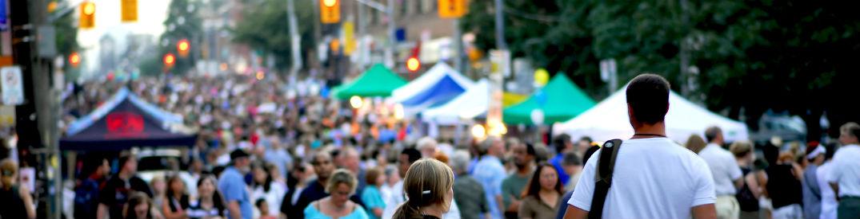 Crowded street festival