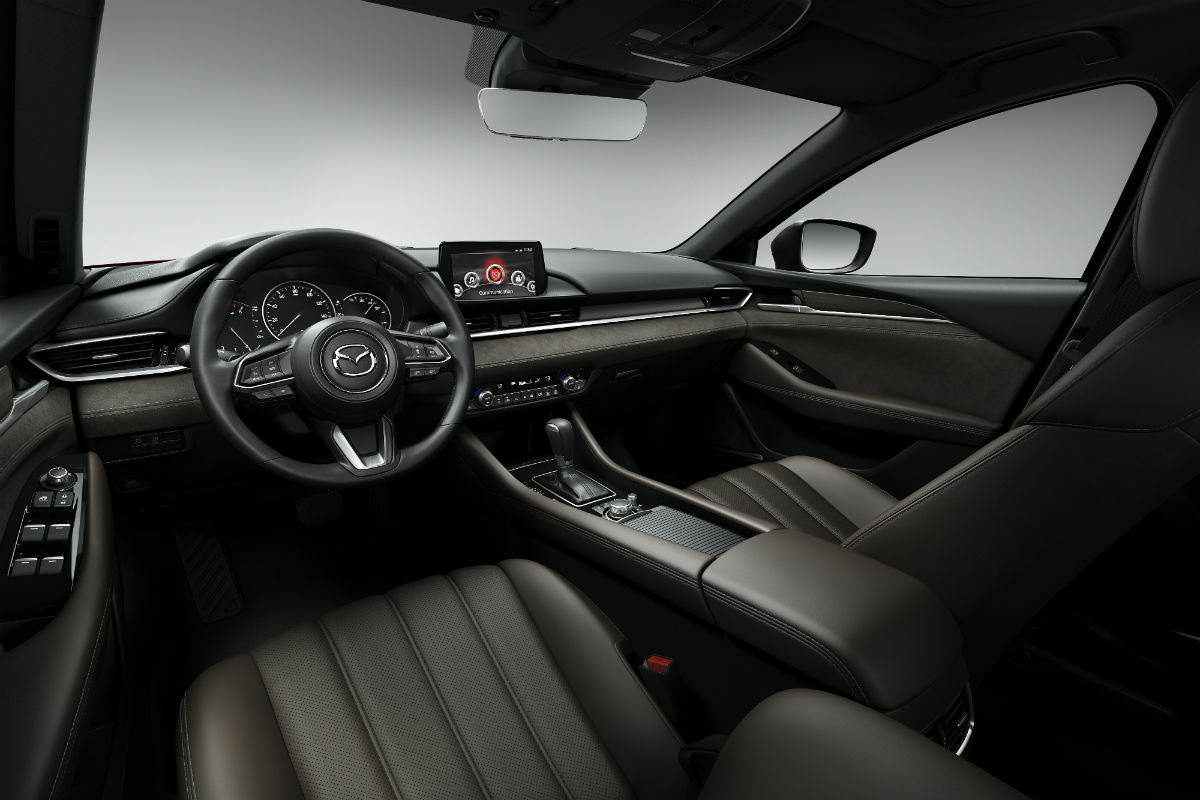 Driver's cockpit of the 2018 Mazda6