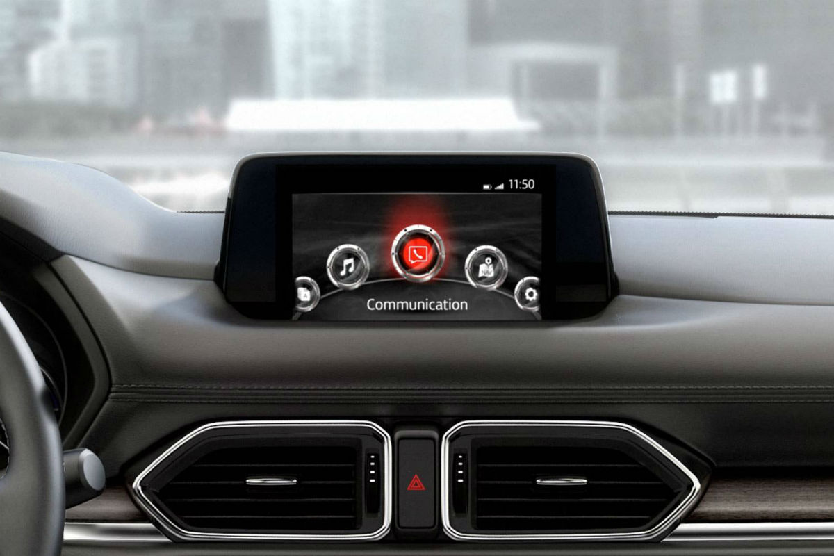 Color touchscreen display of the 2019 Mazda CX-5