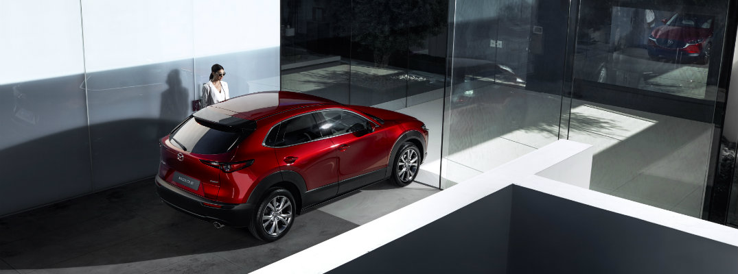 2020 Mazda CX-30 parked in a showroom