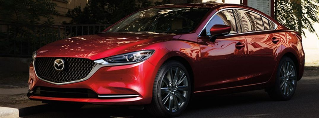 Exterior view of a red 2019 Mazda6
