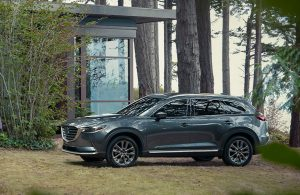 2020 Mazda CX-9 parked in the woods