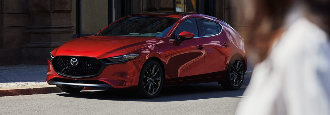 2020 Mazda3 Hatchback parked on the side of the road