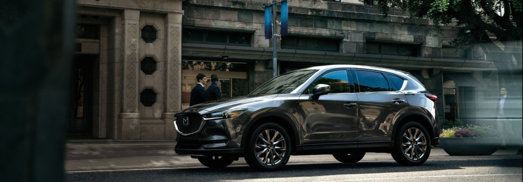 side view of a silver 2020 Mazda CX-5