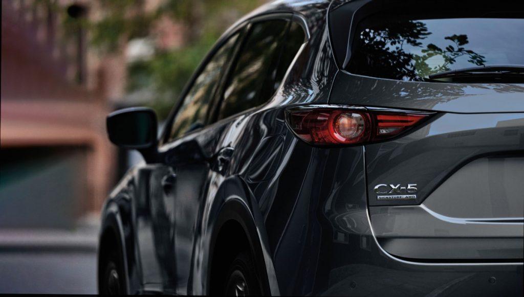 rear view of a 2020 Mazda CX-5