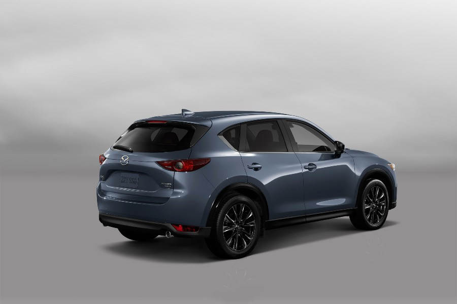 rear view of a carbon 2021 Mazda CX-5