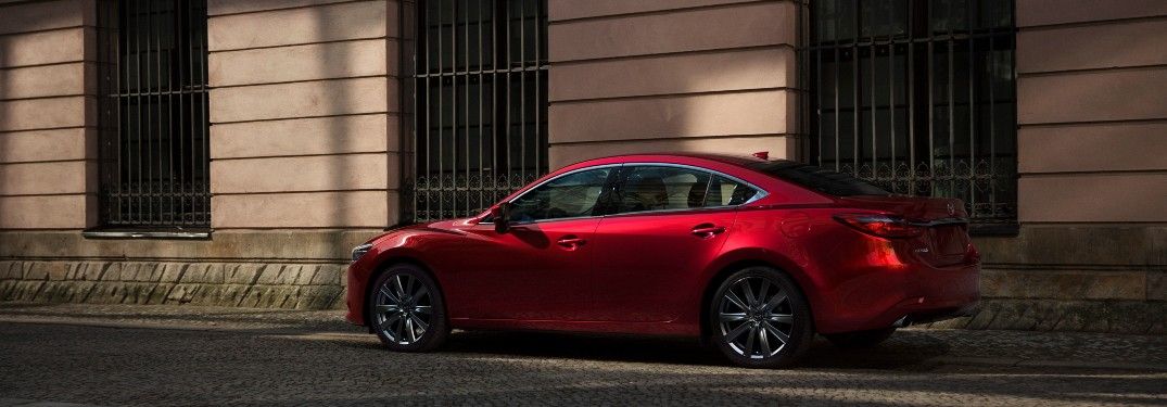 side view of a red 2021 Mazda6