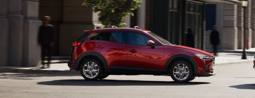 2021 Mazda CX-3 red side view