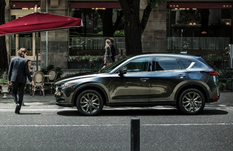 2021 Mazda CX-5 gray side view