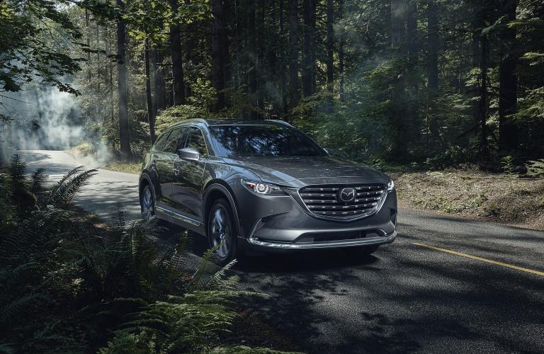 2021 Mazda CX-9 gray front view