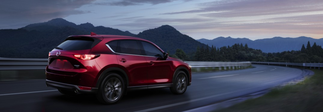 rear view of a red 2021 Mazda CX-30