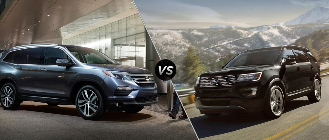 2016 Honda Pilot Standard Towing vs 2016 Ford Explorer Standard Towing
