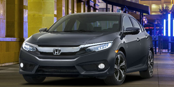 2016 Honda Civic in Silver Exterior View
