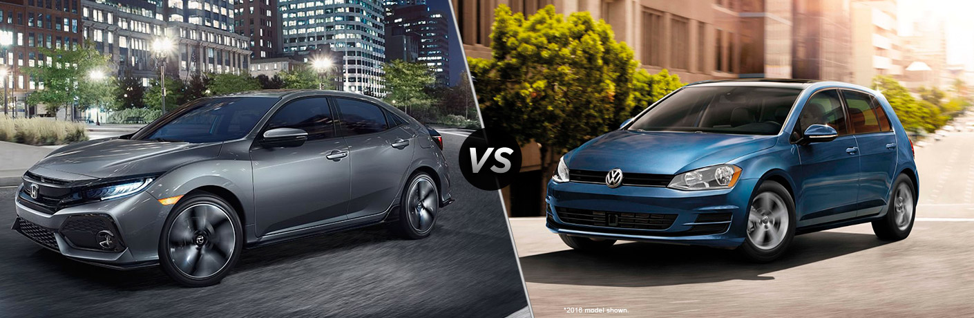 2017 Honda Civic Hatchback vs 2017 Volkswagen Golf