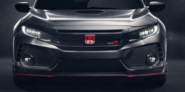 Honda Badge in Red on Civic Type R