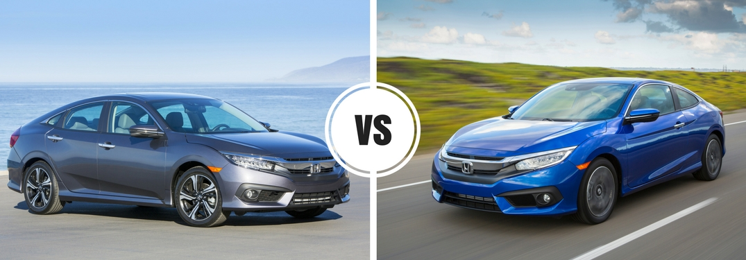 Sedan Vs Coupe >> 2017 Honda Civic Sedan Vs Coupe