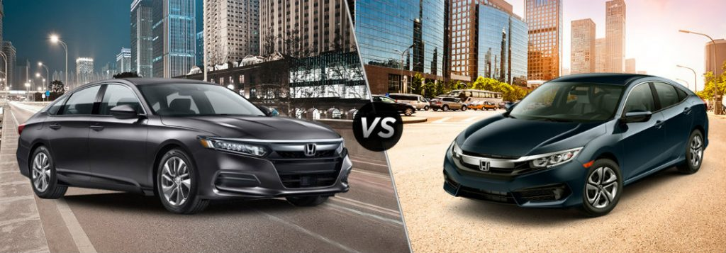 Differences between 2018 honda accord and 2018 civic for Difference between honda cr v lx and ex