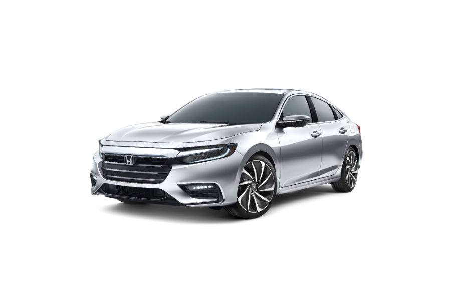 A front left quarter photo of the 2019 Honda Insight Prototype.