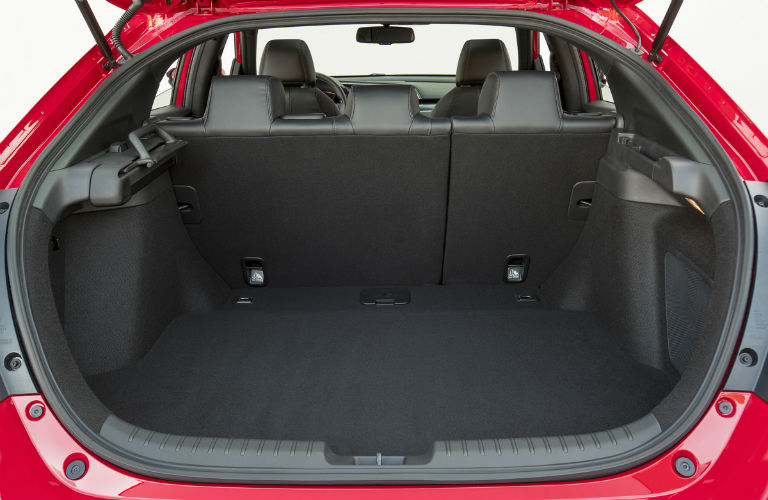 cargo area behind back row in 2018 Honda Civic Hatchback