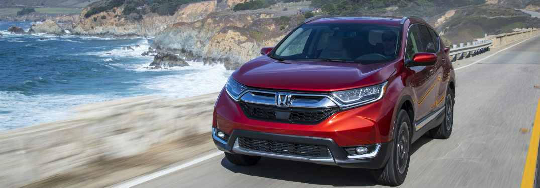 2018 Honda CR-V driving on the coast