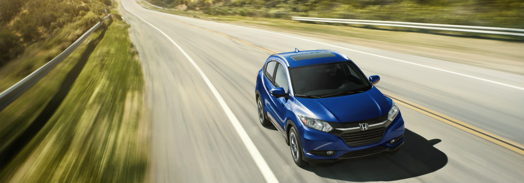 2018 Honda HR-V driving down road