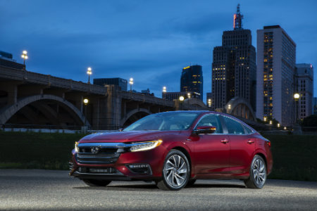 2019 Honda Insight parked near bridge at night