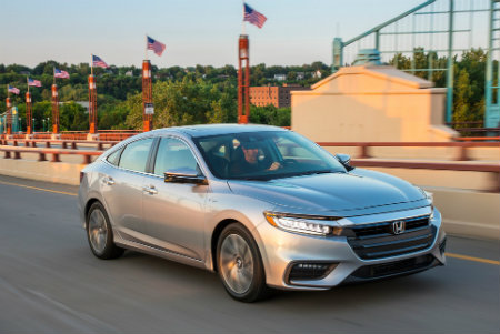 2019 Honda Insight driving down the road