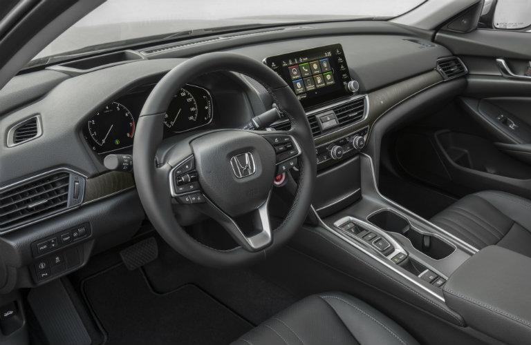 steering wheel, dash, front seats of honda accord