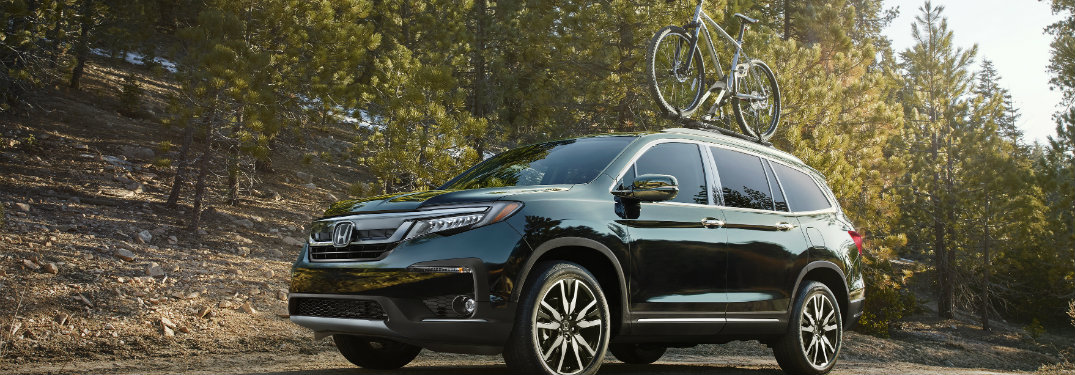 honda pilot with bike on roof